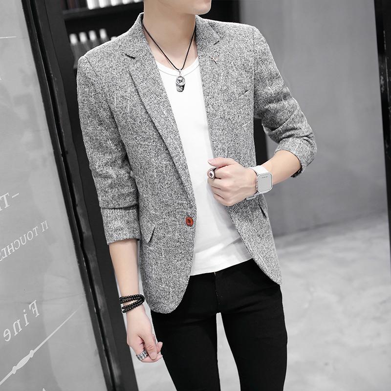 常年备货休闲西服男韩版修身时尚英伦青年小西装男装外套1606-P68