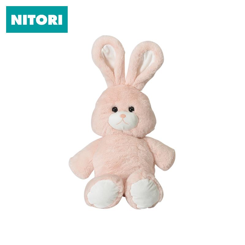 日本NITORI尼达利 毛绒舒适抱枕H兔子 卡通玩偶可爱儿童礼物抱枕