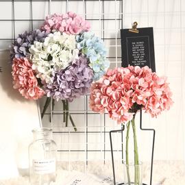 单支绣球花仿真花假花花束摆件家居客厅餐桌摆设装饰花婚礼手捧花