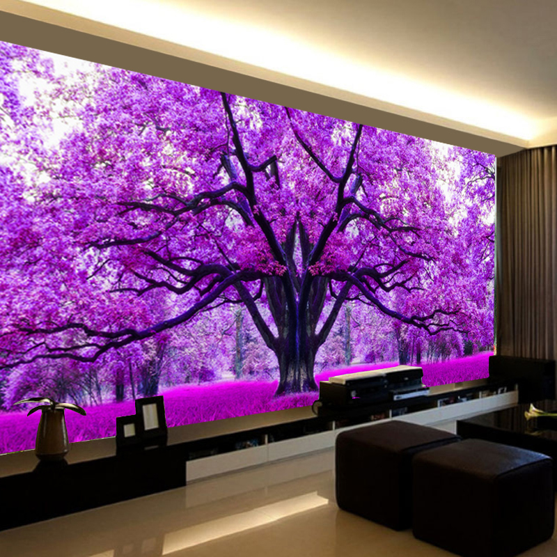 All new 5D cross stitch diamond painting square diamond full diamond living room romantic cherry tree plant flower landscape brick show