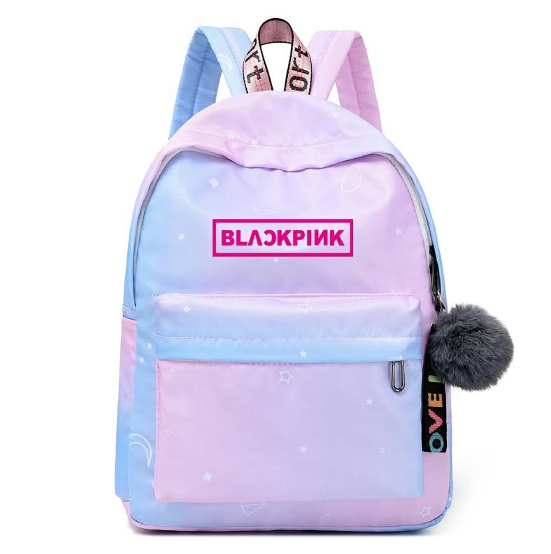 Blacklink: same gradient color backpack around blacklink