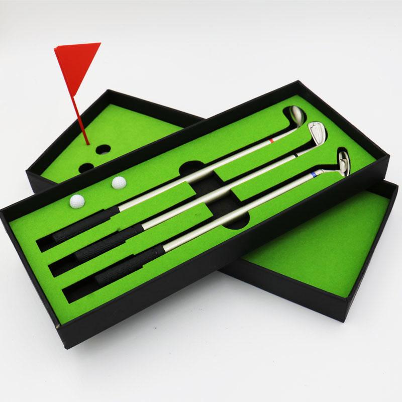 趣味学生文具圆珠笔 创意圆珠笔 三色圆珠笔 高尔夫迷你球场笔