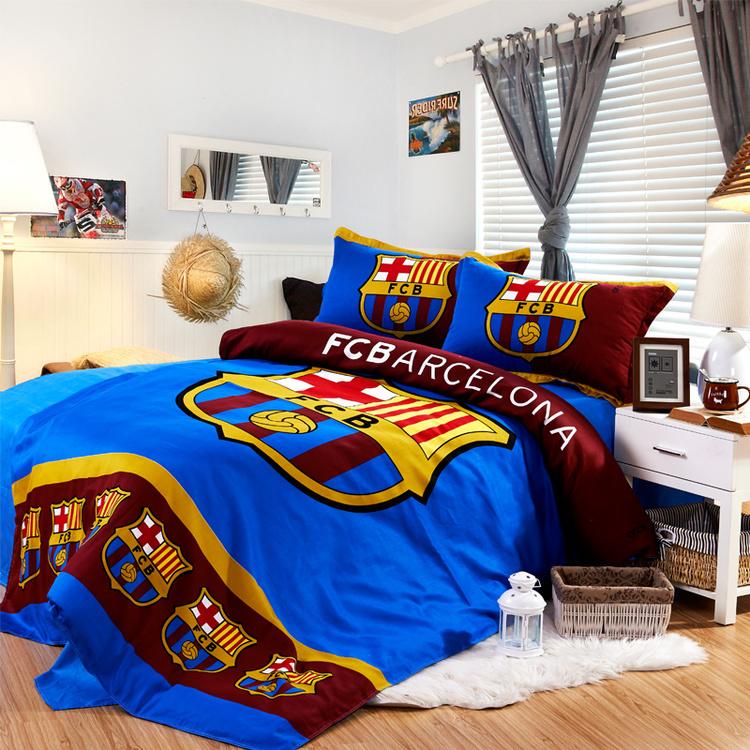 Fan supplies team logo bedding 4-piece pillowcase quilt cover 3-piece Barcelona sheet