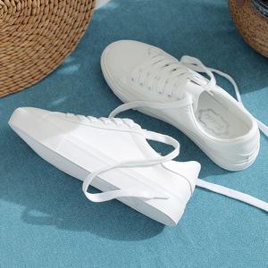 休闲帆布小白鞋