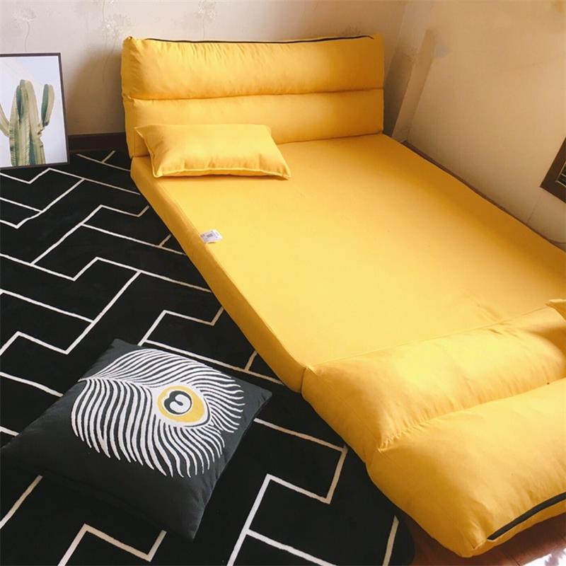 懒人沙发床榻榻米折叠可爱单人双人两用卧室小户型躺椅简易网红款