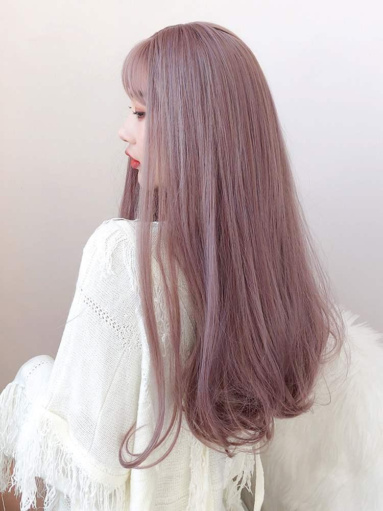 かつらの女性の長い髪ネットの赤いピンク色の長い髪の内で長い巻きの髪の大きい波の洛麗塔のファッションの自然な全体のトップセットの式を掛けます。