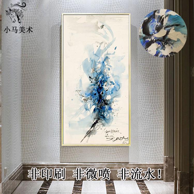 Чжао обещание абстрактный живопись декоративный живопись вход современный простой континентальный сделанный на заказ ручной работы идти галерея картины вертикальное исполнение