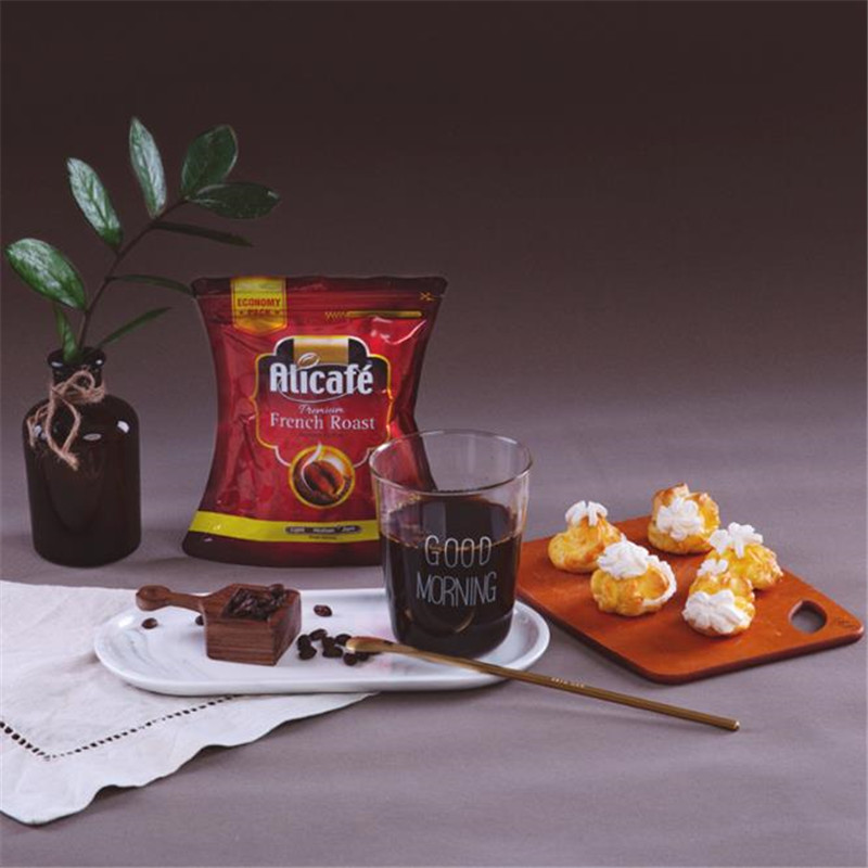 French charcoal roasted instant black coffee powder imported from Malaysia 100g / bag