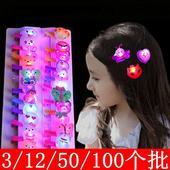 100个可批夜市女孩创意儿童发光小玩具发夹闪灯夜市地摊发光头饰