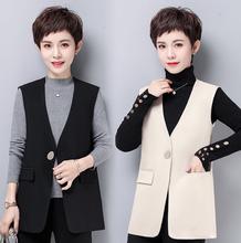 Y16马甲女春秋装短款2021新款韩版时尚洋气显瘦坎肩背心百搭马夹