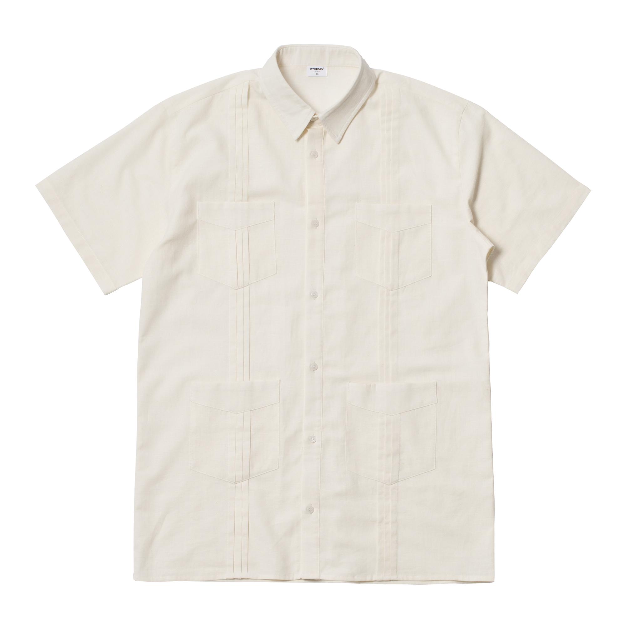 (限时清仓)WHOOSIS 2018 Rayon shirt  麻棉短袖衬衫
