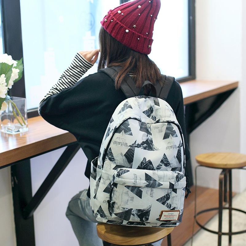 2020 new neutral waterproof backpack womens Korean schoolbag large capacity leisure travel bag mens backpack