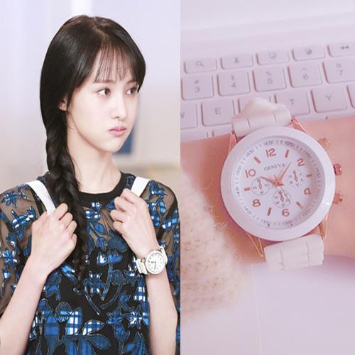 Чжэнчжоу яркий стоять лето в этом же моделье наручные часы женщина студент корейский простой волна ulzzang милый маленький свежий конфеты желе