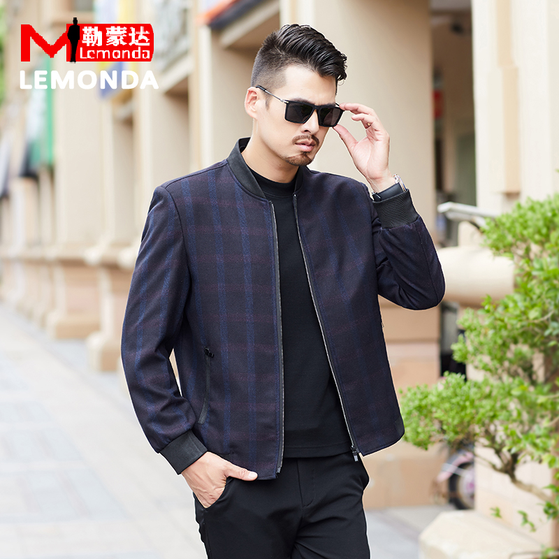 Mens spring and autumn new middle aged business casual jacket jacket mens jacket fathers coat thin