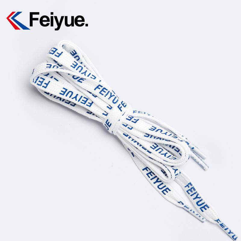 热销10件有赠品feiyue /飞跃定制白色蓝字母鞋带