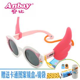 安比儿童太阳镜偏光女童防紫外线墨镜可爱翅膀眼镜宝宝A15324图片