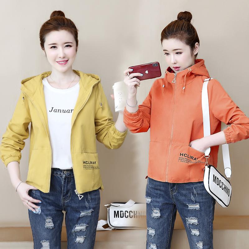 實拍小香風外套女2020春裝新款韓版小個子百搭女士寬松短風衣夾克