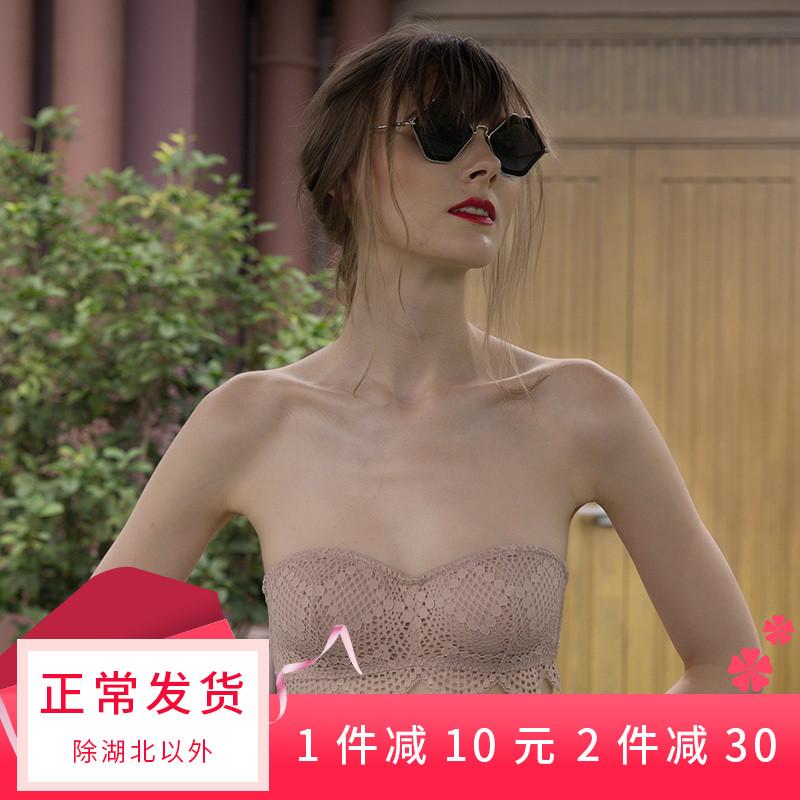 无肩带内衣女露肩聚拢防滑夏季小胸文胸薄款防走光裹胸式隐形抹胸