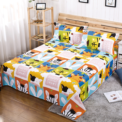 JEJOAI / Jiajia love cotton single piece of children's bed cotton cartoon dormitory bed sheets single double sheets special