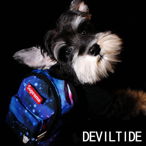 DEVILTIDE прилив бренд одежда аксессуары собака звезда рюкзак маленькая книга пакет домашнее животное собака из из самолично рюкзак