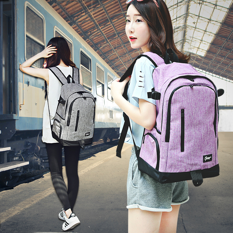 Travel Bag Backpack womens fashion 2018 new Korean canvas large capacity schoolbag boys and girls Computer Backpack