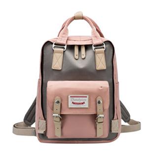 甜甜圈雙肩包女生韓版休閒男女學生書包帆布電腦包旅行揹包可手提