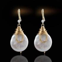 复古流行宫廷风耳饰玺爱订制原创设计异形大巴洛克绕丝耳环