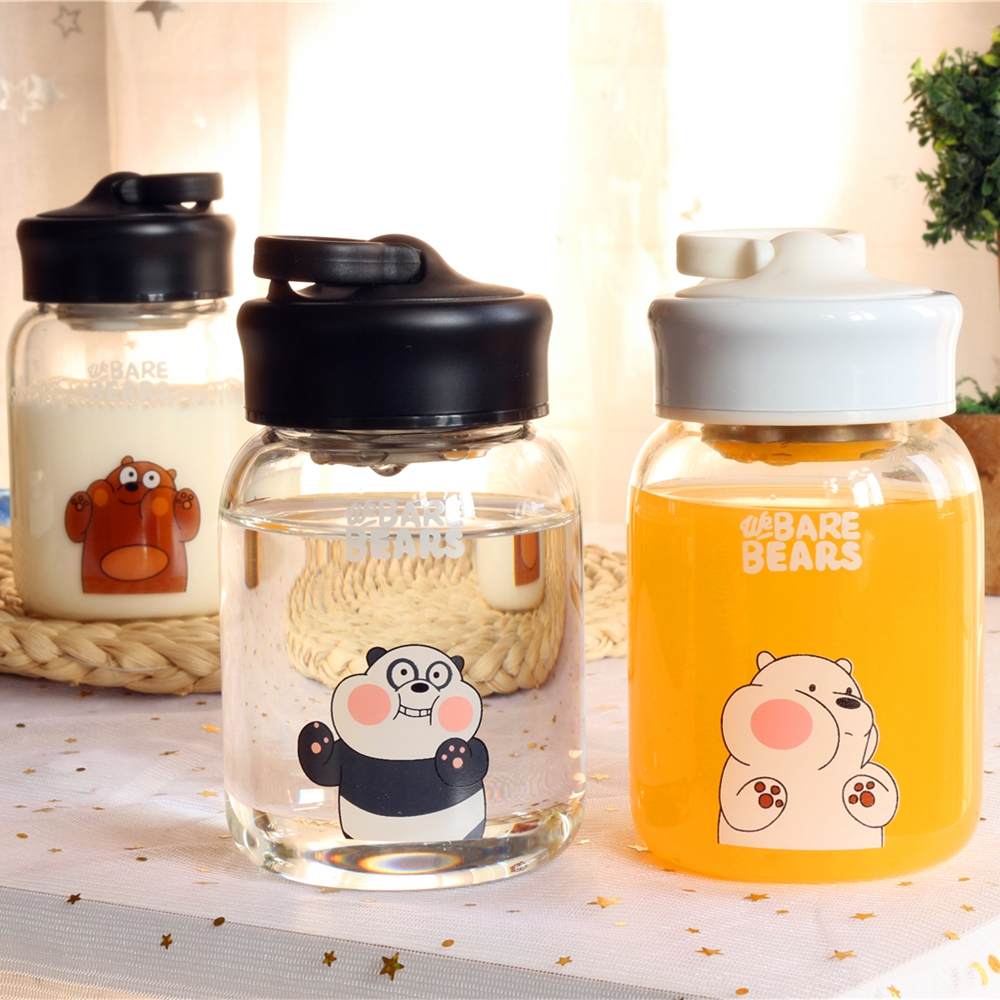 韩国创意玻璃杯便携原宿杯子女学生韩版可爱小清新水杯情侣随手杯