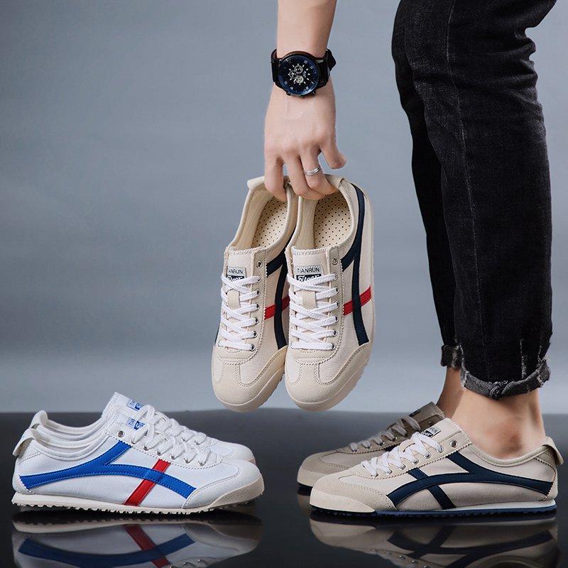 夏季新款透气帆布鞋男鞋低帮系带运动休闲鞋子韩版男士板鞋阿甘鞋