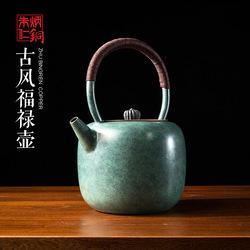 朱炳仁铜 古风福禄壶 摆件家居饰品 客厅办公室装饰摆件铜壶 茶具