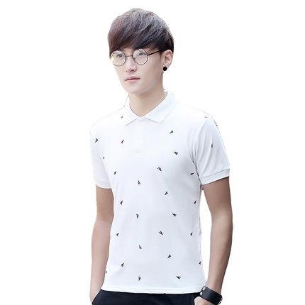 lakecy /莱克茜青年男士短袖衬衫