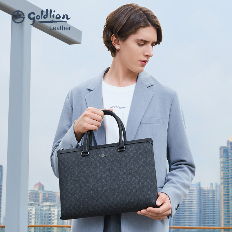 Jin Lilai Men's Briefcase Business Handbag Youth Fashion Professional Men's Bag Leisure Work Computer Bag