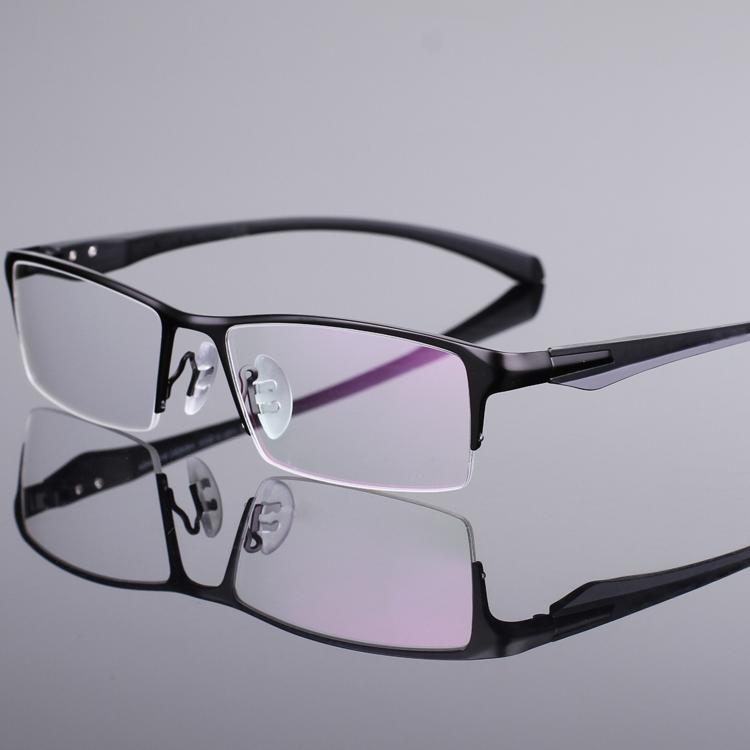 丹阳眼镜 配近视眼镜 男半框纯钛眼镜 电脑镜防辐射变色眼睛老花