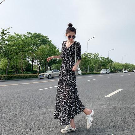 女2019新款夏韩版显瘦气质连衣裙