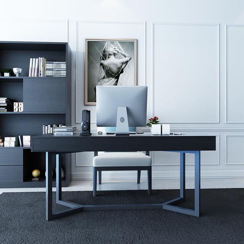 上海定做现代创意书桌 简约现代办公桌组合 家用台式写字台电脑桌不包邮