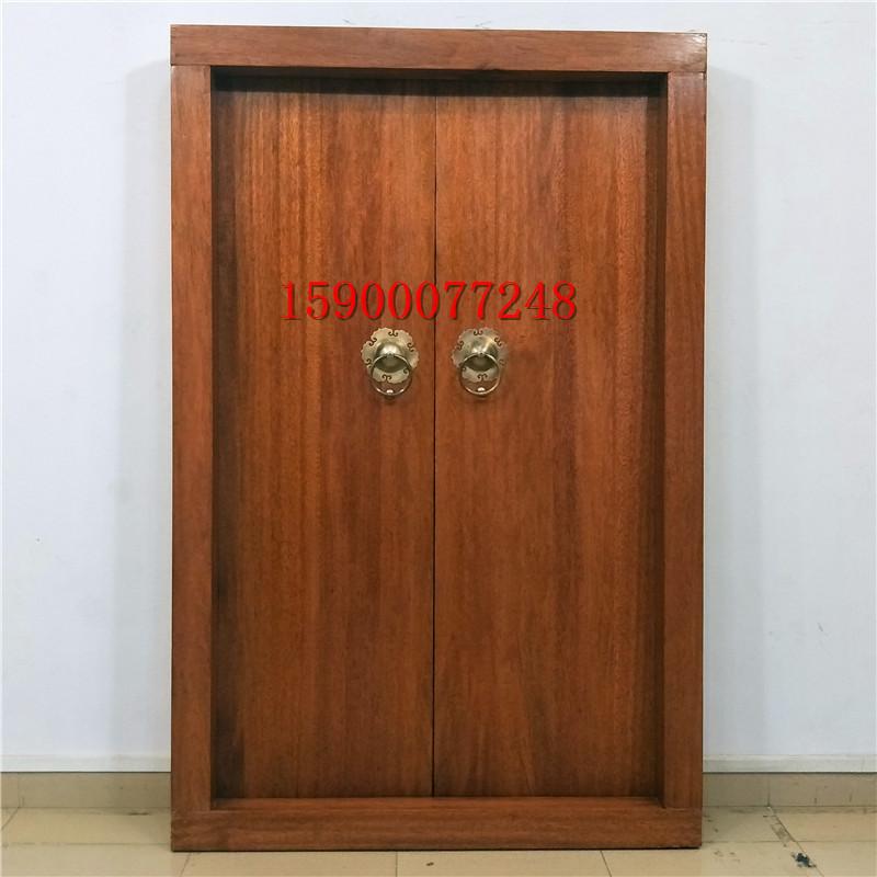 海棠木双开门庭院门高档实木别墅大门中式仿古大门红木大门老式门