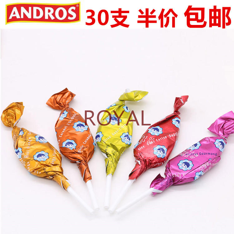 French times imported dimethoate Andrew lollipop childrens leisure food girls gift Caramel fruit candy
