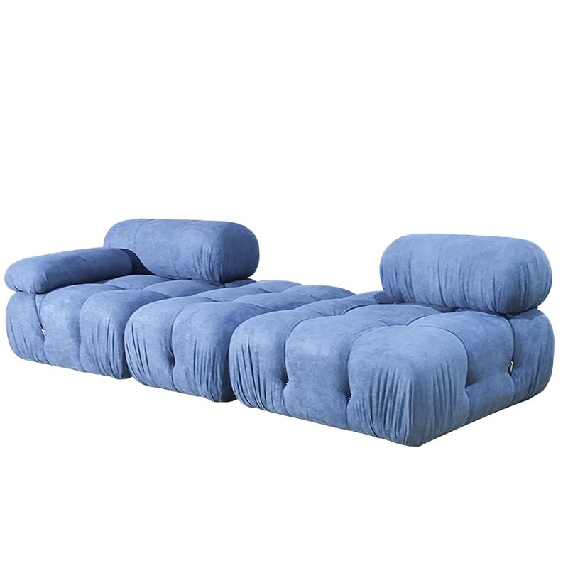 新款意大利设计马里奥简约拉扣复古自由组合创意 变色龙单人沙发