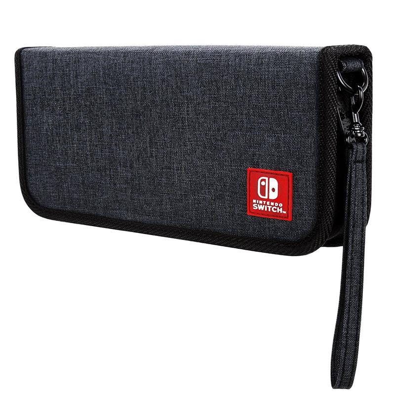任天堂Switch 塞尔达传说 马车8 NS 保护包 灰色布面 收纳盒 低调
