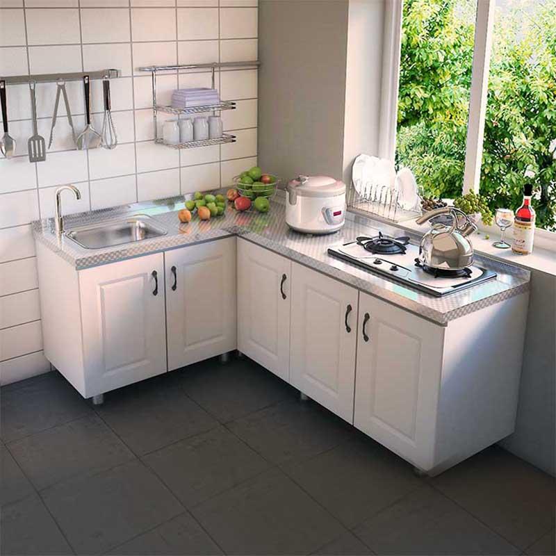 整体橱柜简易组装经济型厨房柜子灶台柜家用水槽柜租房用洗菜碗柜