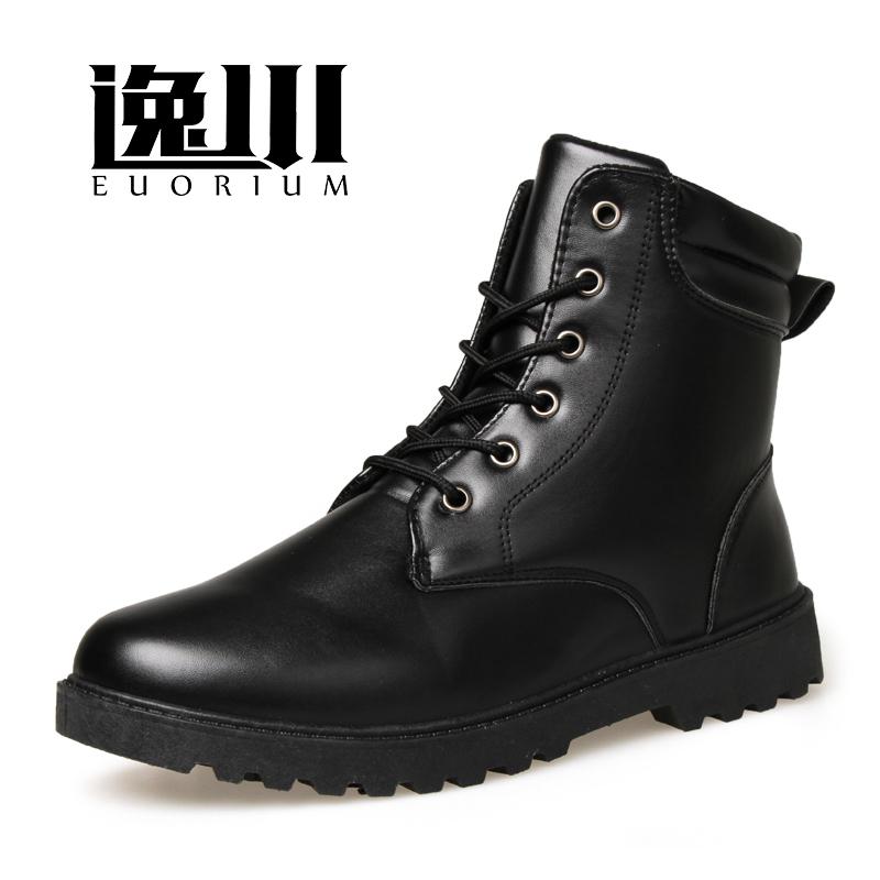 馬丁靴軍靴 潮流男士皮靴棉鞋英倫工裝靴短靴高幫鞋中筒靴子男