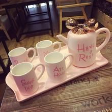 简约客厅创意水壶杯具水杯茶具茶壶整套 欧式 陶瓷家庭家用杯子套装