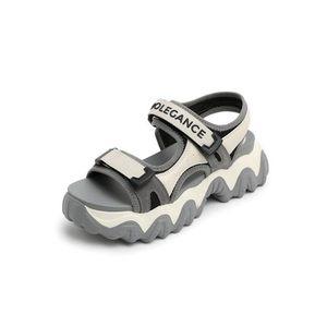 运动凉鞋女2020夏剑齿厚底休闲沙滩果冻凉鞋3VQ30BL0 3VQ30