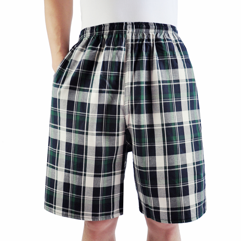 Mens summer cotton pajamas loose home Capris middle-aged and elderly breathable leisure pants student beach pants