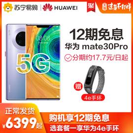【12期免息+选享4e手环】HUAWEI/华为Mate30 Pro 5G全网通曲面屏麒麟990芯片双4000万徕卡四摄手机官方正品图片