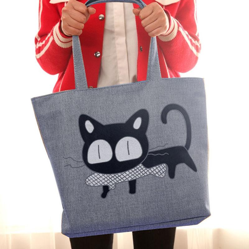 Zipper canvas bag womens large capacity shoulder bag Mommy shopping bag super large environmental protection handbag student schoolbag