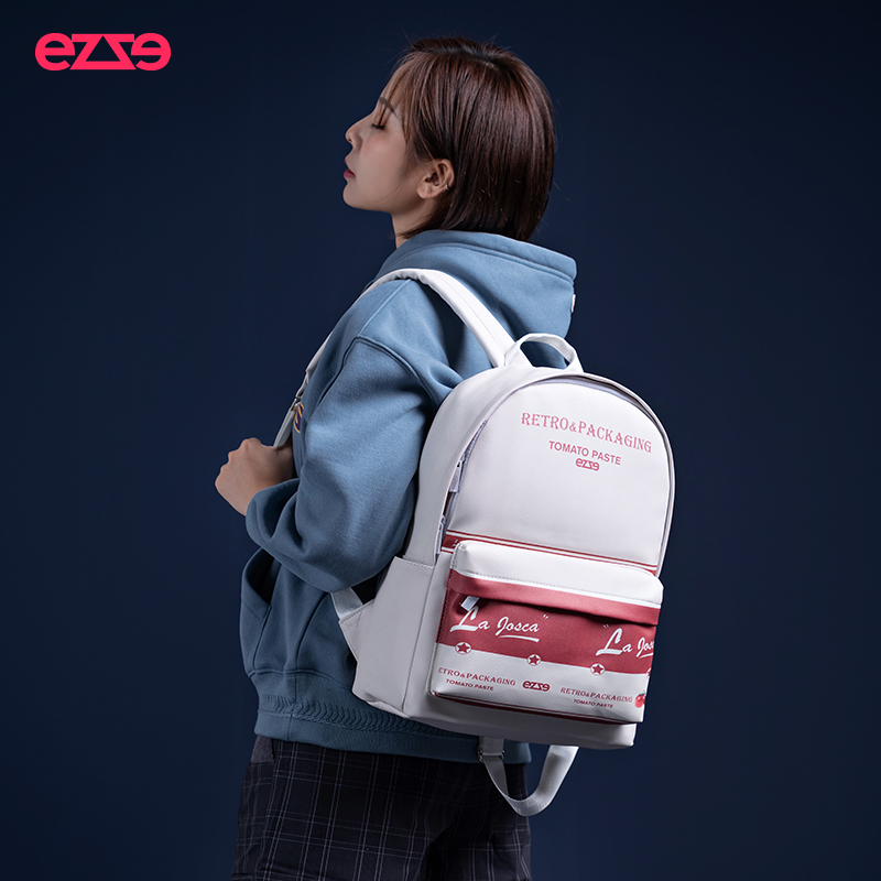 EE rebirth new backpack for female high school students simple schoolbag anti theft backpack yuansufeng retro travel bag