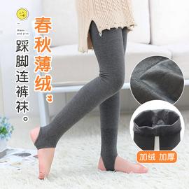 儿童连裤袜新款踩脚袜秋冬季女童打底裤加绒加厚女孩外穿一体裤子