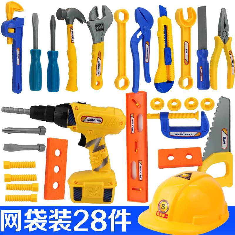 修理儿童工具箱玩具套装男孩益智电钻维修宝宝木制礼物巴布工程师