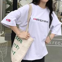 实拍清仓~2018春夏日系宽松刺绣上衣半袖打底T恤女学生闺蜜装